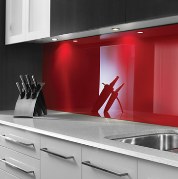 Acrylate - Paroi arrière de la cuisine