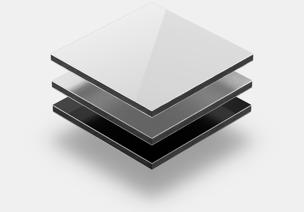 Panneaux composites aluminium grey